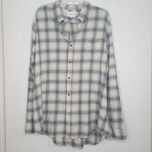 Men's Five Four Plaid Gray Montello Button Shirt J